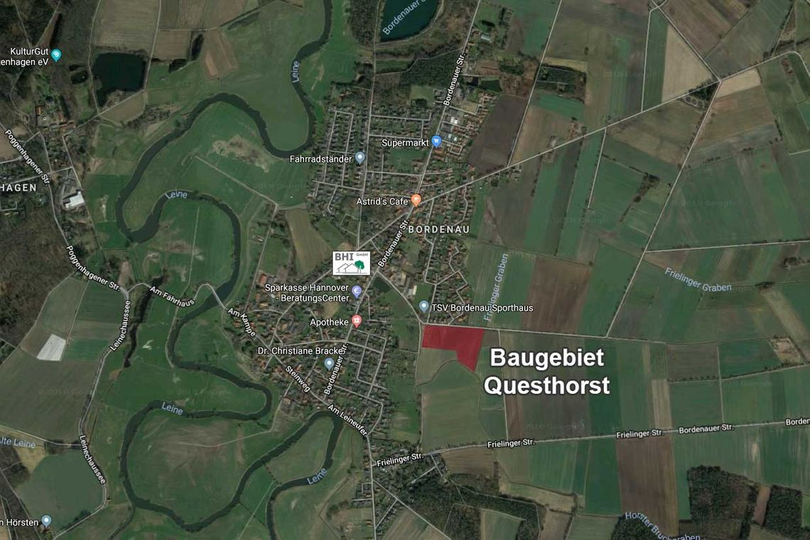 Baugebiet Questhorst in Bordenau